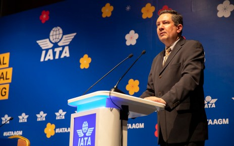 Nick Careen IATA Senior Vice president for airports passenger and cargo security , speaks in Seoul last week