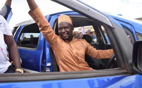 Lasuli Ngobi, a Chapati makeshift stall owner and resident of Mubende Town, is among the recent batch of winners to walk away with a Tukonectinge branded Toyota wish from Crown Beverages