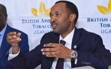 BATU's Managing Director Mr. Mathu Kiunjuri addressing the media at the recent AGM in May in Kampala.