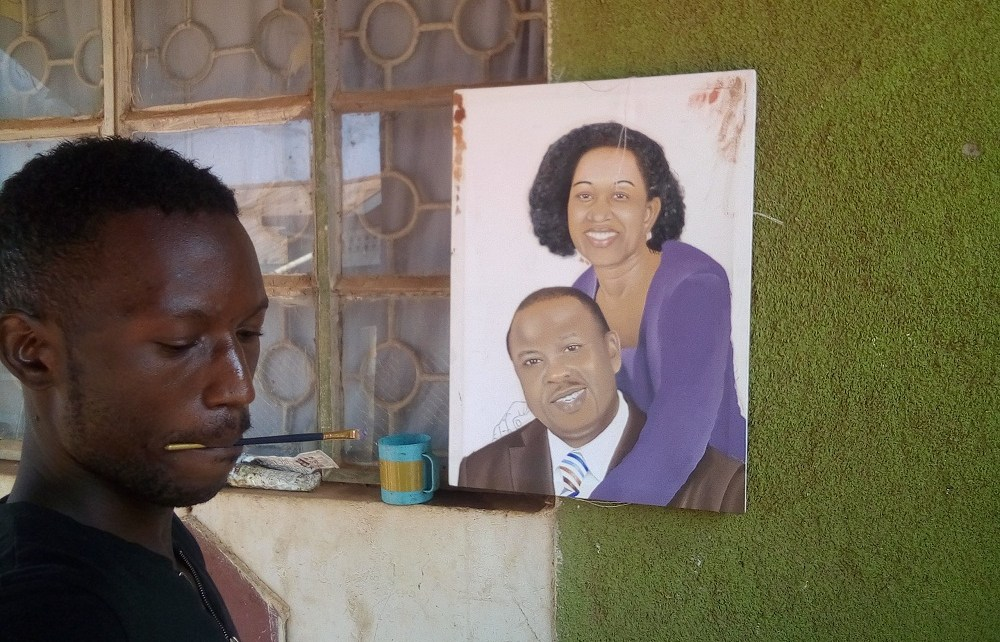 After graduating from Makerere University with a Bachelor's Degree in Business Administration,  Steven Oketa discovered that he has a talent in painting.