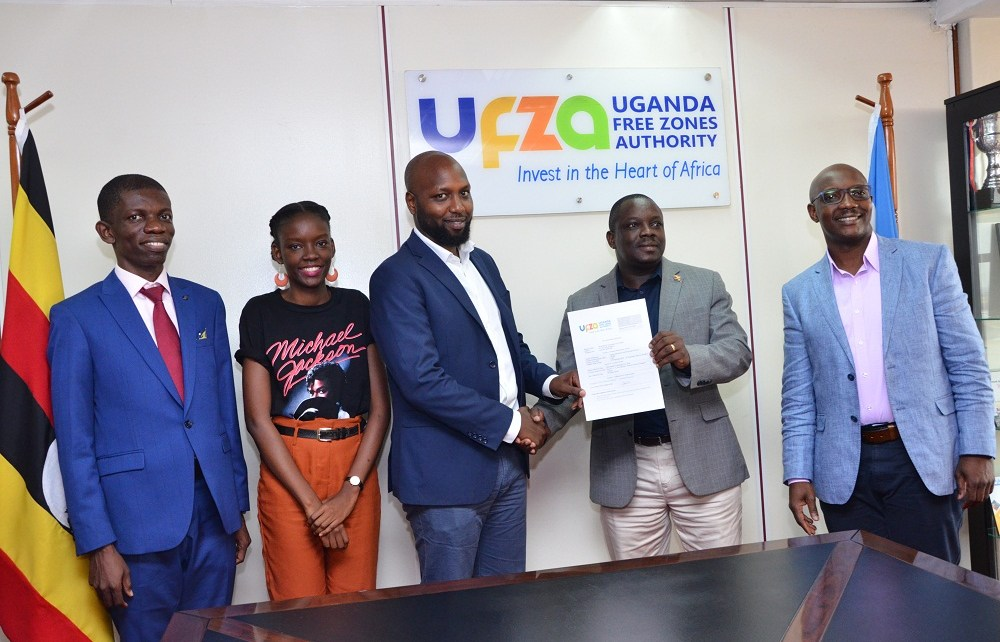 Uganda Free Zones Authority (UFZA) has issued two Developer's Licenses to M/s BlockChain Technologies (U) Limited and M/s Shree Modern Textiles Ltd to develop Free Zones in Kampala and Jinja Districts respectively.