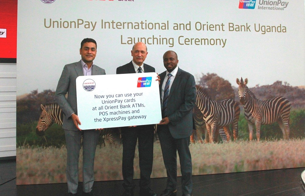 Orient Bank Uganda Limited and UnionPay International have announced a partnership in which all UnionPay Cards are accepted at all ATMs and POS terminals of Orient Bank, one of the leading and fastest-growing banks in Uganda.