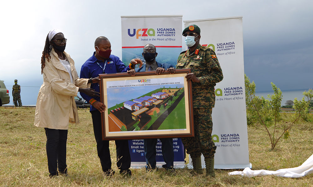 UGX. 48 Billion Free Zone Facility Construction Inaugurated by Uganda Free Zones Authority in Entebbe.