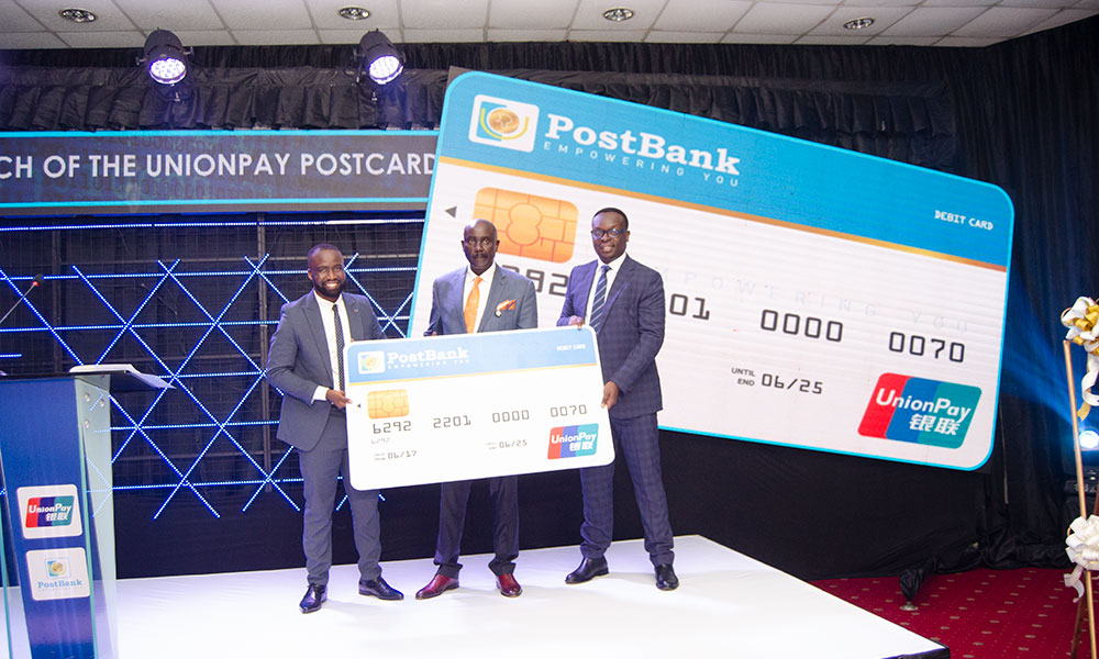 PostBank & UnionPay International Unveil New Payment Card to Boost Digital Transactions in Uganda.
