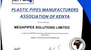 Megapipes (Plastic Pipes) Solutions Confirmed as KEPPMA Member