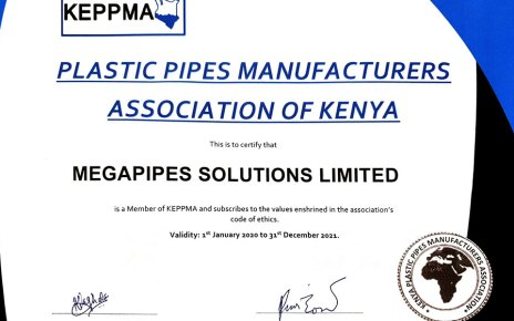 Megapipes (PlasticPipes) Solutions Confirmed as KEPPMA Member