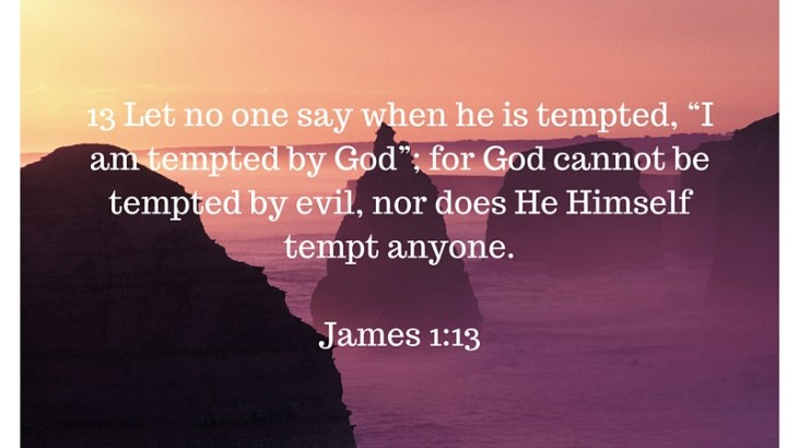 God does not tempt us