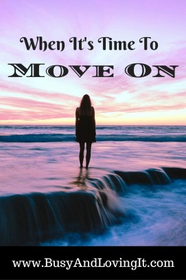 When it's time to move on. God makes a way.
