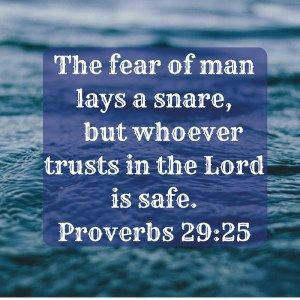 Are you dealing with shyness? The fear of man is a trap laid by the devil.