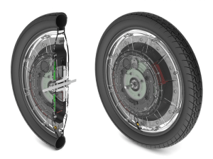 The technology in the Jyrobike's wheel ensures that a child can't fall off a bike. (Jyrobike)