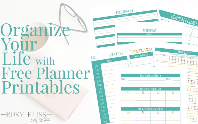 Organize Your Life with These Free Planner Printables