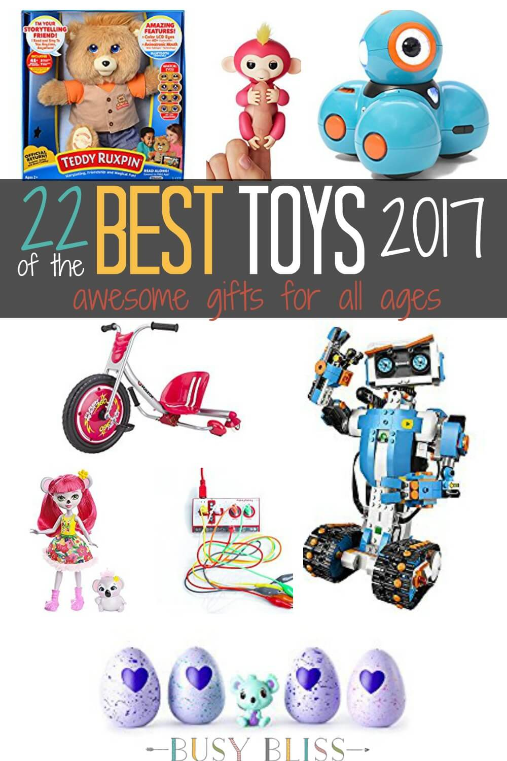 Get a head start on your holiday toy shopping with this list of the best toys 2017. These are great gift ideas for all ages!