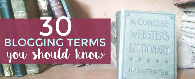 Blogging terms demystified.