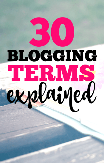 30 blogging terms demystified.