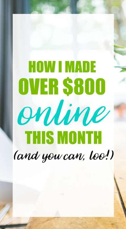 This November, I made over $800 from my blog. You can make money blogging, too! Find out how.