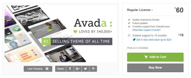 Avada price