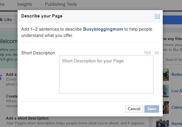 Describe your Page