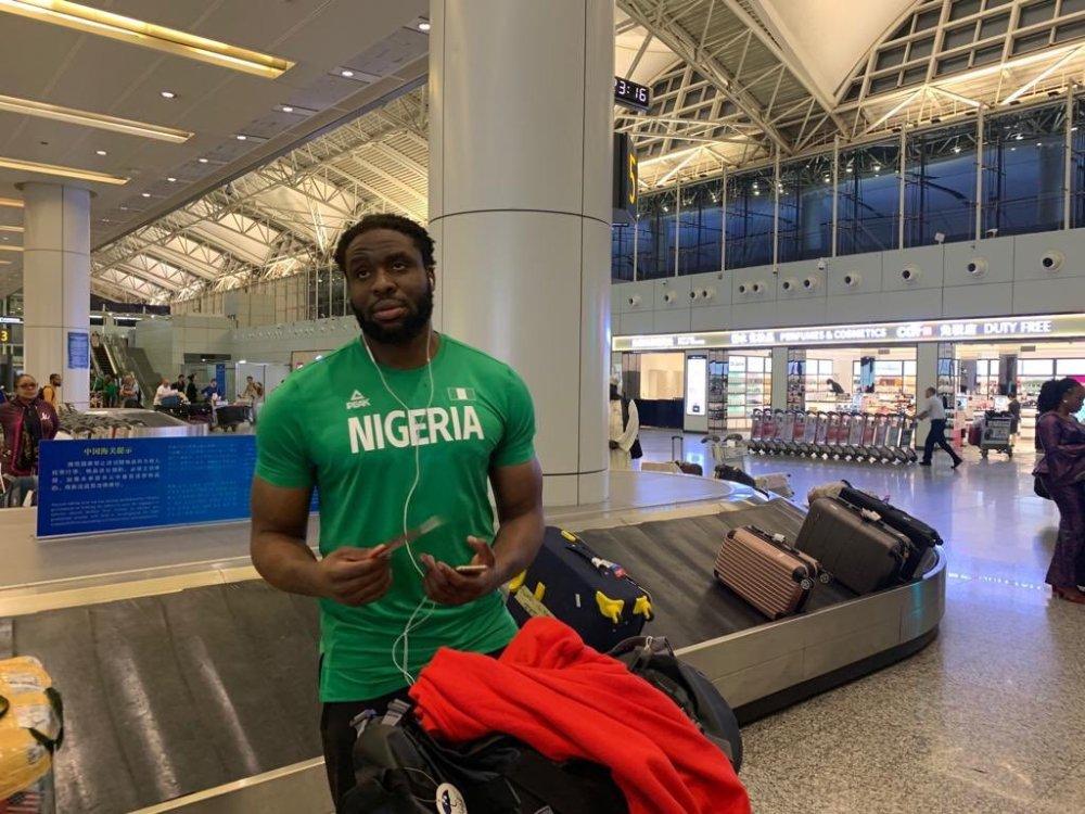 Ike Diogu In China Airport