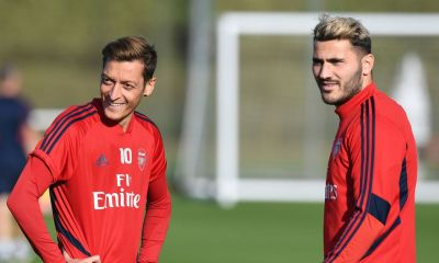 Sead Kolašinac and Mesut Ozil