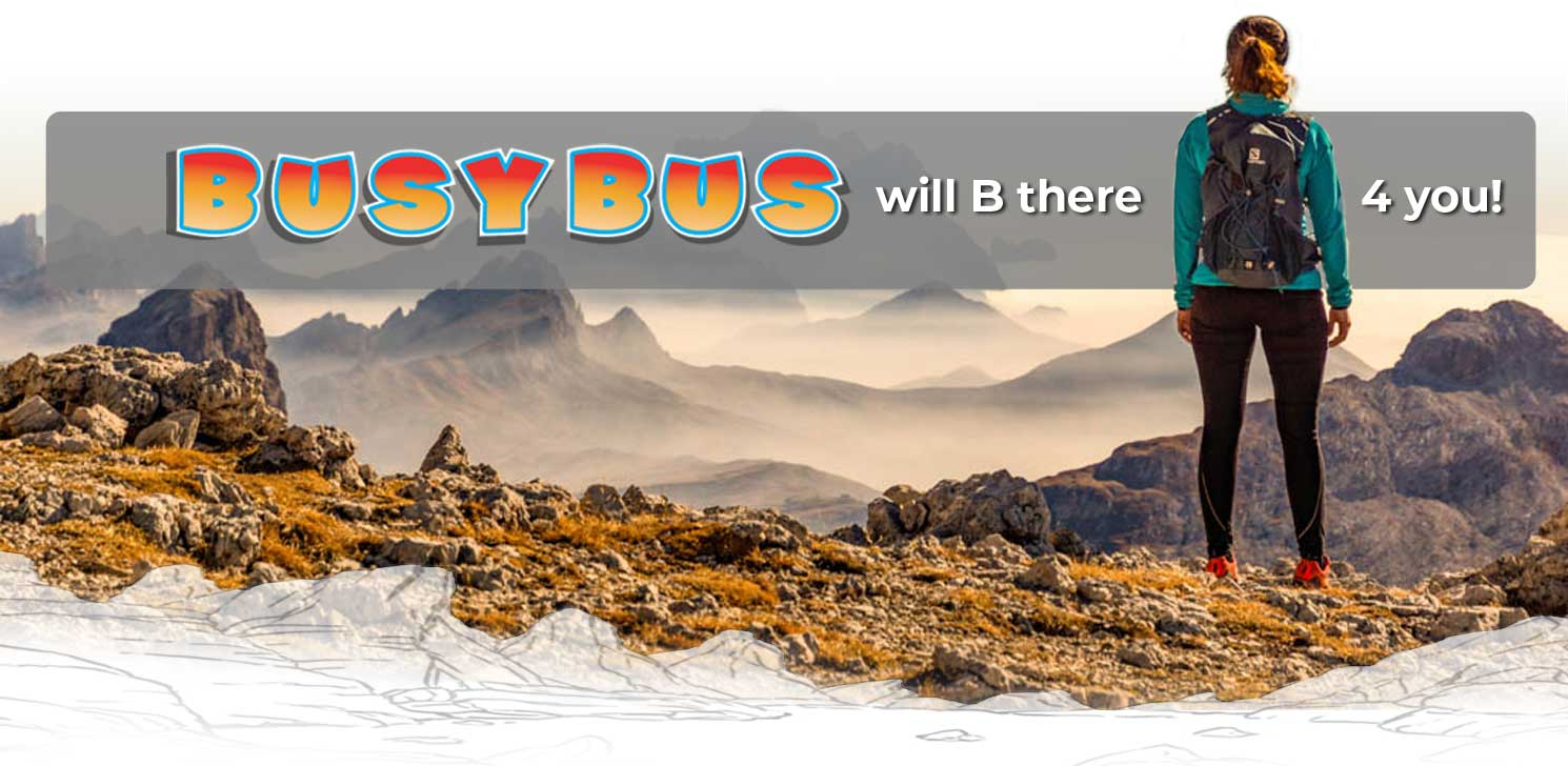 busybus getting you to the mountains
