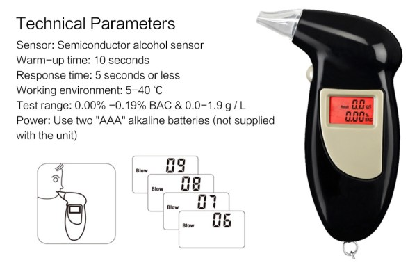 Keychain Breathalyzer Portable Alcohol Test How To Use
