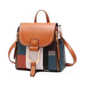 Mini Convertible Backpack Crossbody Purse Leather Bag Handbag - Primary
