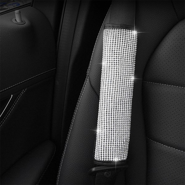 Diamond Crystal Steering Wheel Cover - Shoulder Strap Cover