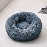 Calming Dog Pet Bet Anti-Anxiety Soothing Cat Beds Dark Gray