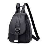 Leather Convertible Backpack Purse Anti Theft Crossbody Bag Black