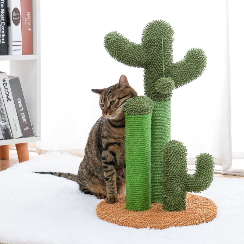 Cactus Cat Scratching Post with Brown Cat Model Scratch Neck