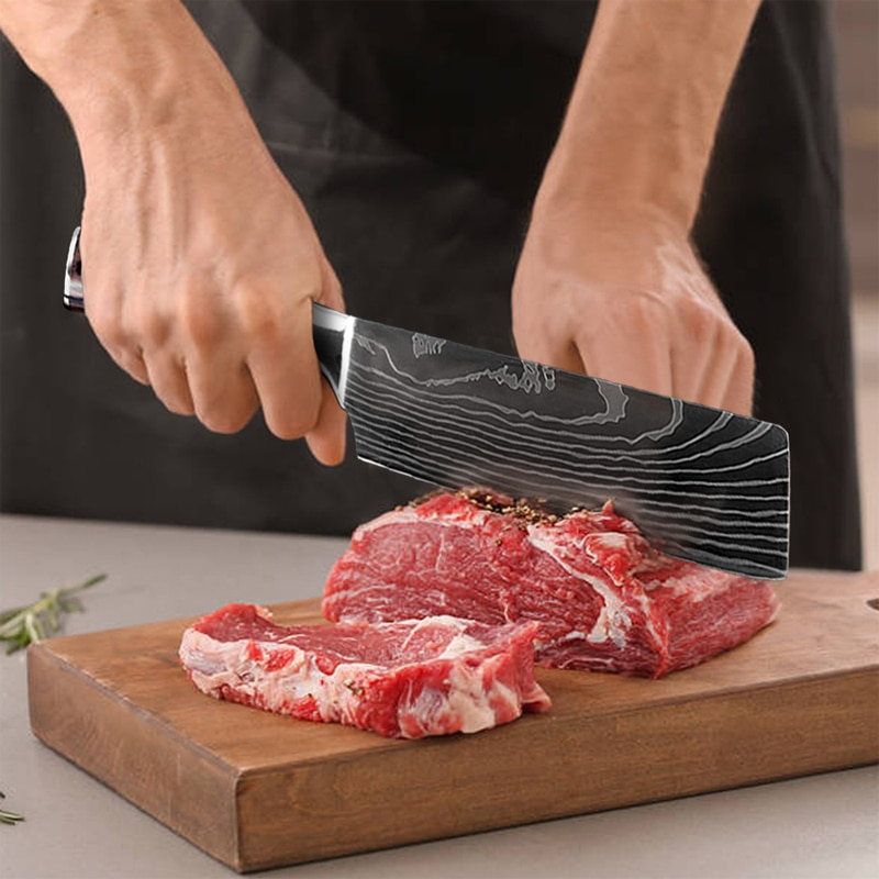 Japanese Kitchen Knives Set Of 10 Pro Cut Meat With Least Effort