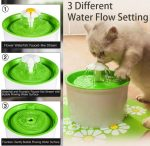 Purified Cat Pet Water Drinking Fountain - 3 Different Water Flow Settings