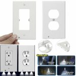Wall Plate Outlet LED Night Light Anywhere