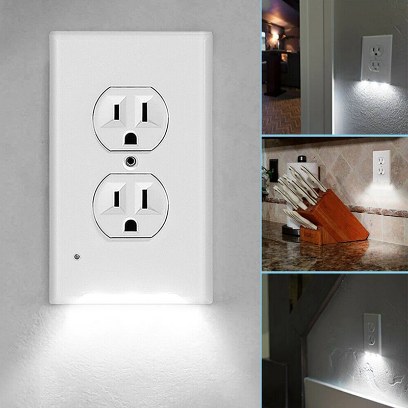 Wall Plate Outlet LED Night Light Safety and Convenience