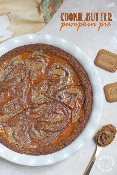 Cookie Butter Pumpkin Pie