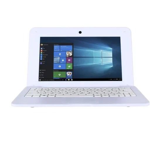 notebook 10 1 mini pc ordinateur portable windows 10 intel 2 go 32 go blanc
