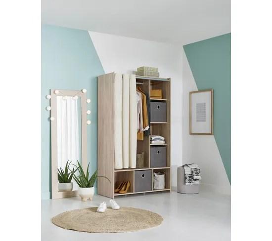 https www but fr produits 5713035017701 kit dressing avec rideau beige l 105 cm optimal imitation chene html