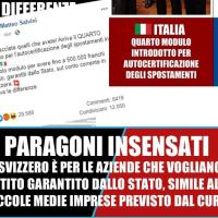 Paragoni insensati - Italia vs Svizzera - CoVid-19
