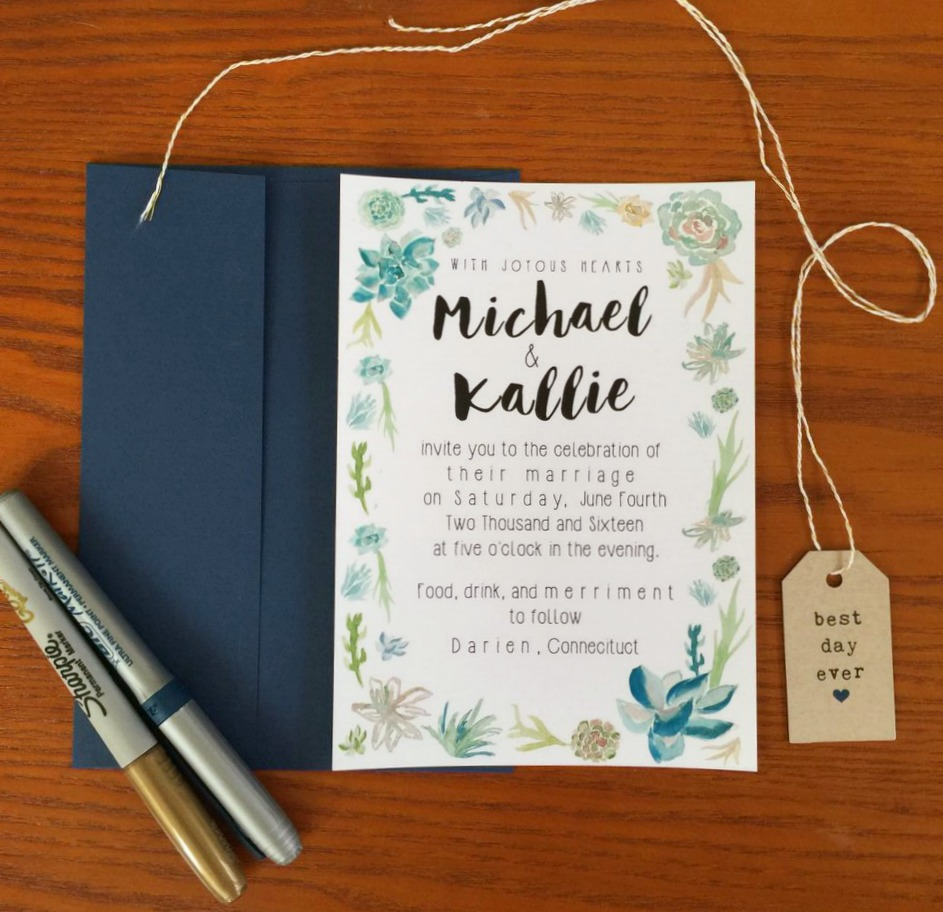 Our Succulent Invitations - Wedding Wednesday - But First, Coffee ...