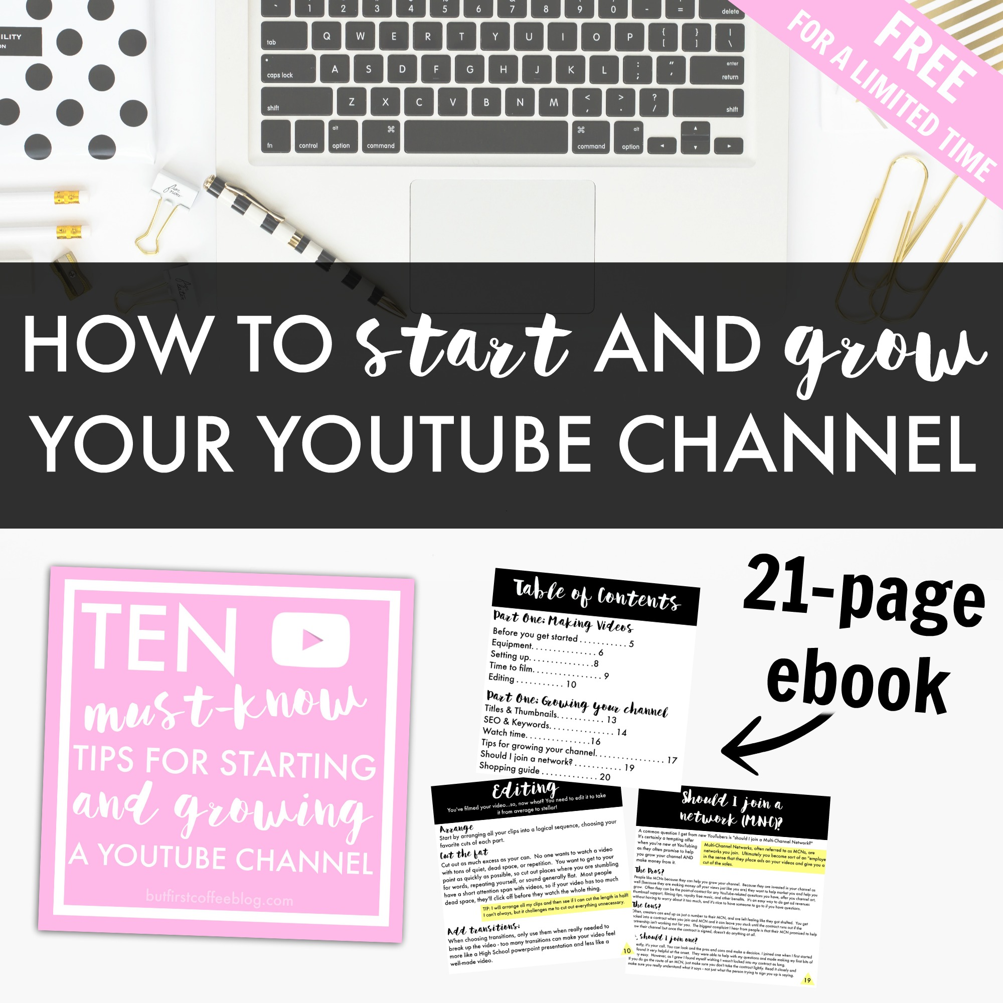 How to start and grow your youtube channel free ebook free ebook youtube fandeluxe Document