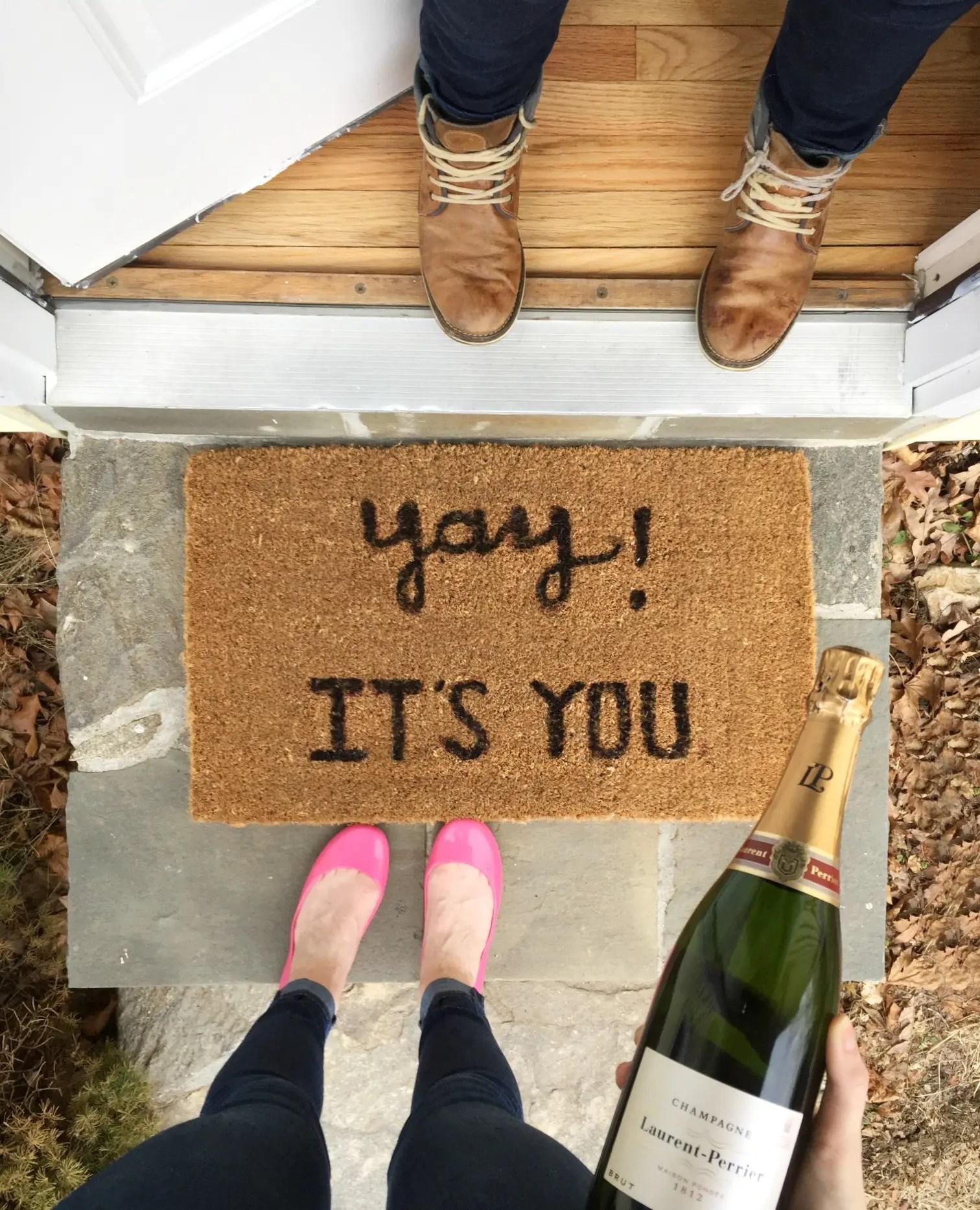 buy or diy doormat | DIY welcome mat