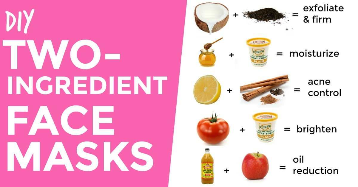 Two-Ingredient D.I.Y. Face Masks for Every Skin Type