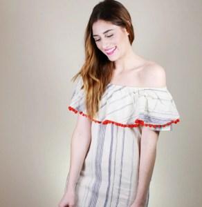 DIY Pom Pom Trim Dress