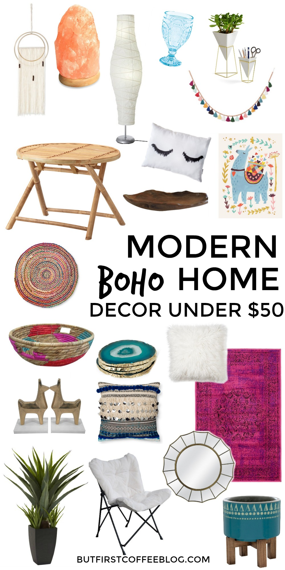 Modern boho home decor that you can get for under 50 for Got home decor