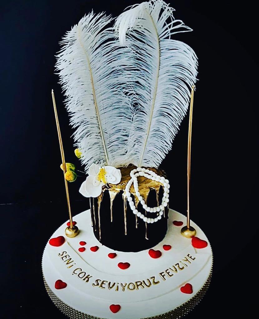 tüylü pasta