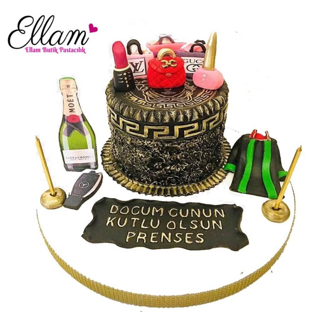 özel dokulu avukat temalı pasta