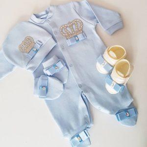 bebek tulumlari 2 scaled - Taş Süslemeli Yenidoğan Patikli Hastane Çıkış Seti 0-1 Ay