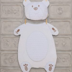 bebitof erkek bebek alt acma minder seti pelus ayi mavi 01 scaled - Bebitof Erkek Bebek Alt Açma Minder Seti Buz Mavisi