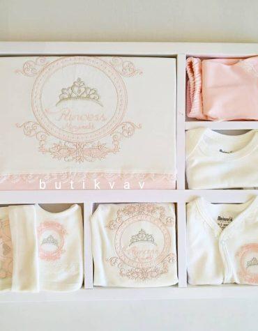 miniworld kiz bebek prenses yazili 10 lu hastane cikisi turkuaz 01 scaled - Miniworld Kız Bebek Prenses Taç Nakışlı 10'lu Hastane Çıkışı - Pudra