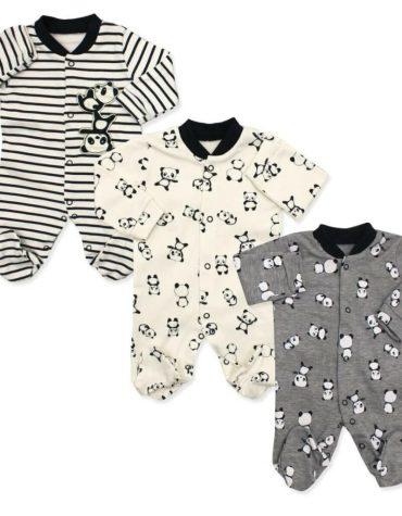 erkek bebek ayicik motifli tulum sapka seti 3 6 ay 01 scaled - Yenidoğan Erkek Bebek Pandalı 3'lü Tulum